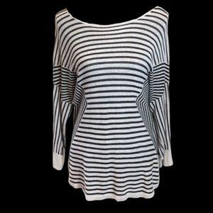 DANA BUCHMAN Women's Black & Gray Sweater Top XL
